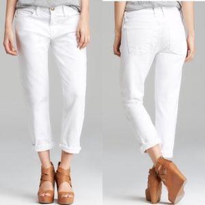 Current Elliot Womens Boyfriend Jeans 29 White A34